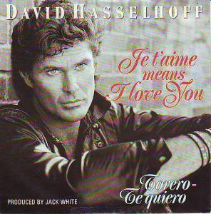 David Hasselhoff: Je T'aime Means I Love You - Cover