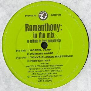 Cover - Romanthony: In The Mix (A Tribute To Tony Humphries)