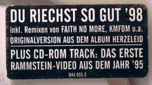 Rammstein: Du Riechst So Gut '98 (Single-CD) - Bild 6