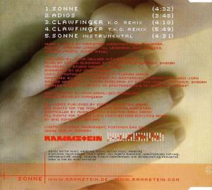 Rammstein: Sonne (Single-CD) - Bild 2