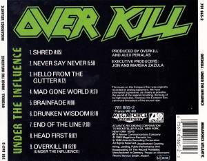 Overkill: Under The Influence (CD) - Bild 2