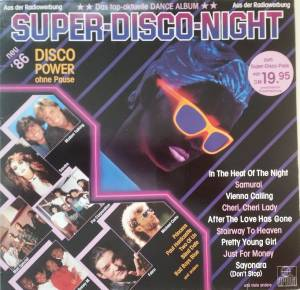 Cover - Jayne Collins: Super Disco Night