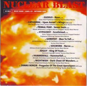 Rock Hard - Nuclear Blast - The Number One In Extreme Music (CD) - Bild 2