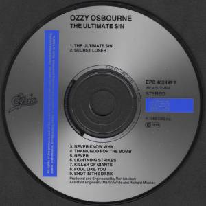 Ozzy Osbourne: The Ultimate Sin (CD) - Bild 4