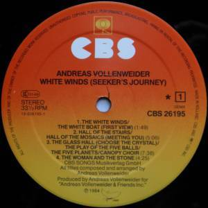 Andreas Vollenweider: White Winds (LP) - Bild 3