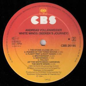 Andreas Vollenweider: White Winds (LP) - Bild 4