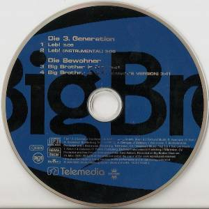 Die 3. Generation / Die Bewohner: Leb / Big Brother Is O.K. (Split-Single-CD) - Bild 5