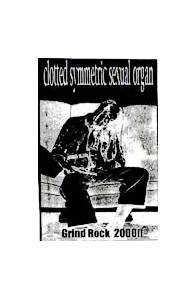 Cover - Clotted Symmetric Sexual Organ: Grind Rock 2000