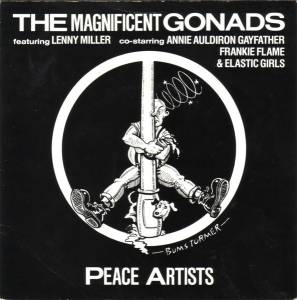 Cover - Gonads, The: Peace Artists