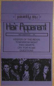 Heir Apparent: Recordings '88 - Cover