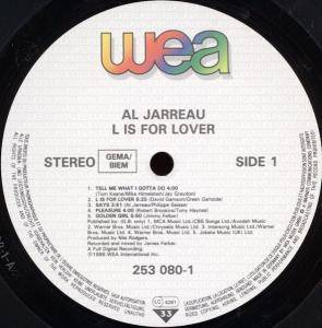Al Jarreau: L Is For Lover (LP) - Bild 3