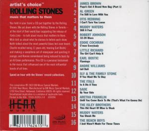 Artist's Choice - Rolling Stones: Music That Matters to Them (CD) - Bild 2