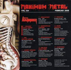 Metal Hammer - Maximum Metal Vol. 124 (CD) - Bild 2