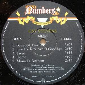 Cat Stevens: Numbers - A Pythagorean Theory Tale (LP) - Bild 5