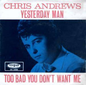 Chris Andrews: Yesterday Man - Cover