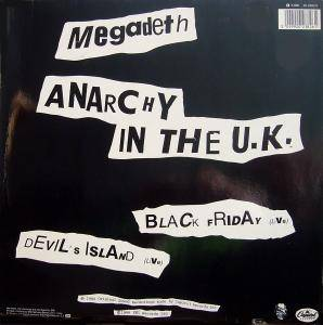 Megadeth: Anarchy In The U.K. - Cover