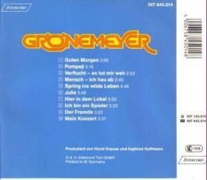 Herbert Grönemeyer: Grönemeyer (CD) - Bild 2