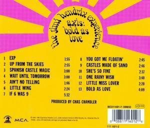 The Jimi Hendrix Experience: Axis: Bold As Love (CD) - Bild 2