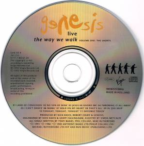 Genesis: Live - The Way We Walk (Volume One: The Shorts) (CD) - Bild 3