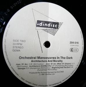 Orchestral Manoeuvres In The Dark: Architecture & Morality (LP) - Bild 3