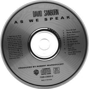 David Sanborn: As We Speak (CD) - Bild 3