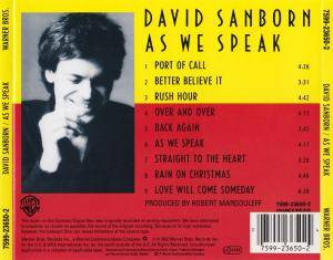 David Sanborn: As We Speak (CD) - Bild 4