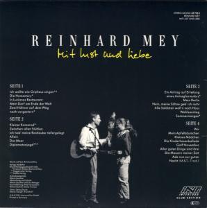 Reinhard Mey - Mit Lust Und Liebe