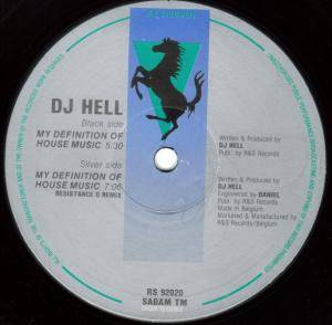 Cover - DJ Hell: My Definition Of House Music