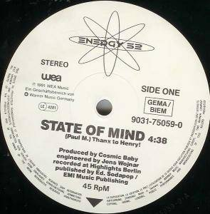 Cover - Energy 52: State Of Mind