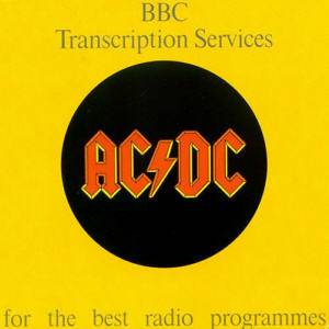 AC/DC: BBC Transcription Services - Cover