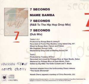 Youssou N'Dour  & Neneh Cherry: 7 Seconds (Single-CD) - Bild 2