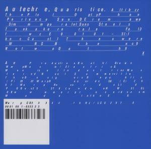 Cover - Autechre: Quaristice