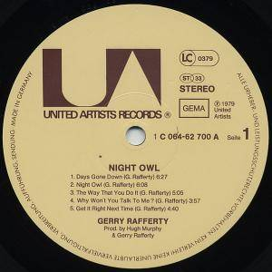 Gerry Rafferty: Night Owl (LP) - Bild 4