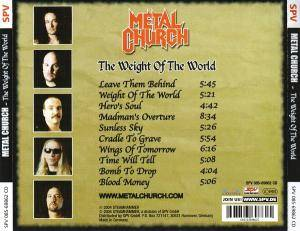 Metal Church: The Weight Of The World (CD) - Bild 2