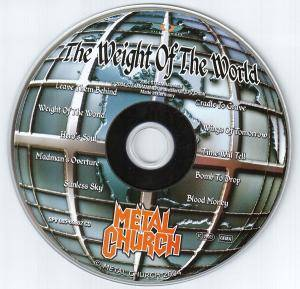 Metal Church: The Weight Of The World (CD) - Bild 3