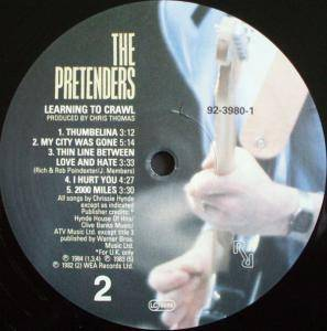 Pretenders: Learning To Crawl (LP) - Bild 4