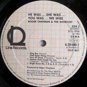 Roger Chapman And The Shortlist: He Was... She Was... You Was... We Was... (2-LP) - Bild 4