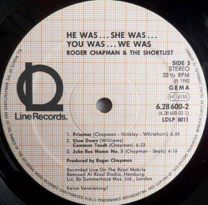 Roger Chapman And The Shortlist: He Was... She Was... You Was... We Was... (2-LP) - Bild 5