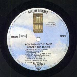 Bob Dylan & The Band: Before The Flood (2-LP) - Bild 5