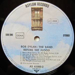 Bob Dylan & The Band: Before The Flood (2-LP) - Bild 7