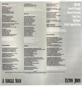 Elton John: A Single Man (LP) - Bild 3
