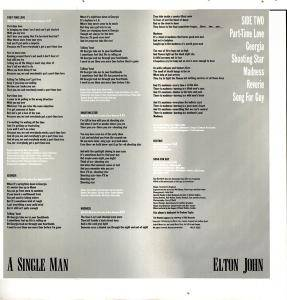 Elton John: A Single Man (LP) - Bild 4