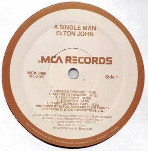 Elton John: A Single Man (LP) - Bild 5