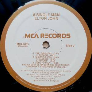 Elton John: A Single Man (LP) - Bild 6