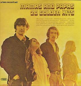 The Mamas & The Papas: 20 Golden Hits - Cover