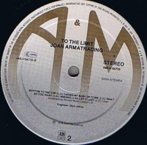 Joan Armatrading: To The Limit (LP) - Bild 6