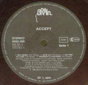 Accept: I'm A Rebel (LP) - Bild 3
