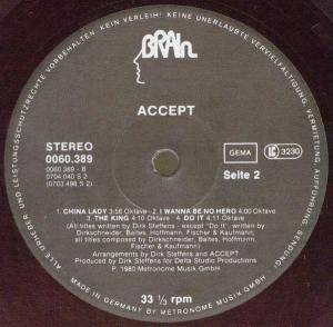 Accept: I'm A Rebel (LP) - Bild 4