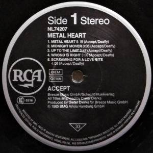 Accept: Metal Heart (LP) - Bild 3