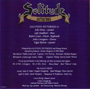 Solitude Aeturnus: Into The Depths Of Sorrow (CD) - Bild 2